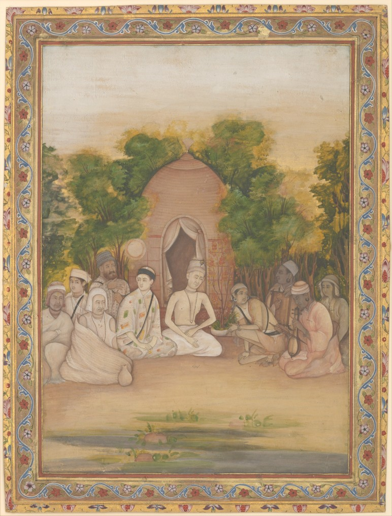 A Gathering of Holy Men of Different Faiths - Mir Kalan Khan  (active ca. 1730–80) | metmuseum.org | Click image for larger view.