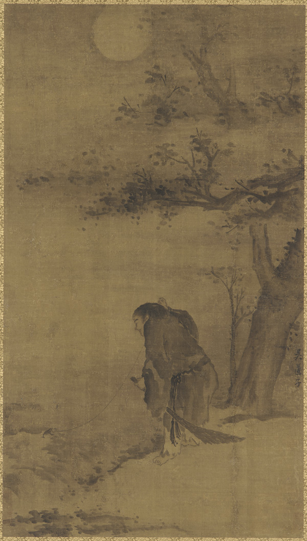 Liu Hai Fishing for his Toad by Moonlight