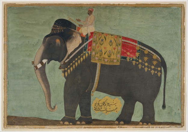 Portrait of the Elephant 'Alam Guman by Bichitr (active ca. 1610–60) | metmuseum.org | Click image for larger view.