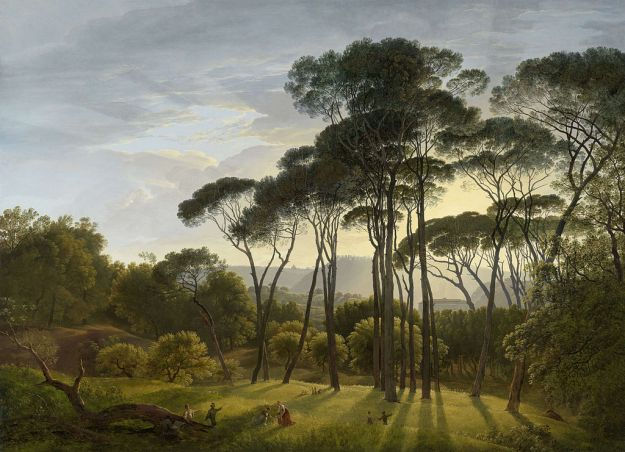 Hendrik Voogd — Italian Landscape with Umbrella Pines (1807)
